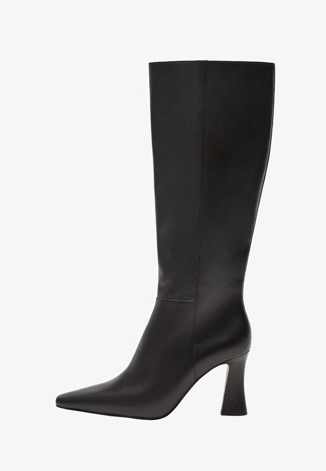 Over-the-knee boots - sort
