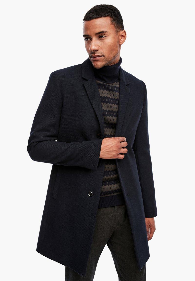 s.Oliver BLACK LABEL - IM CLASSIC SHAPE - Short coat - dark blue melange