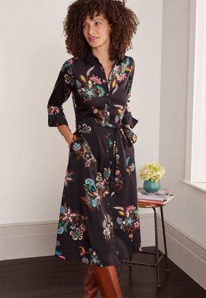 ISODORA - Shirt dress - schwarz, garten-chintz-bouquet