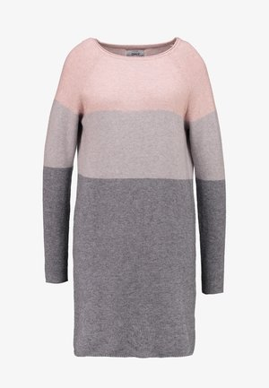 ONLLILLO DRESS  - Gebreide jurk - mahogany rose/w melange/light grey