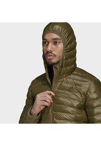 adidas Performance - VARILITE HOODED DOWN JACKET - Winter jacket - focus olive - 4