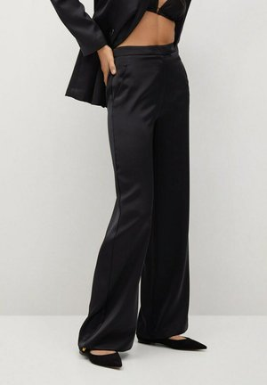NIGHT-A - Trousers - zwart