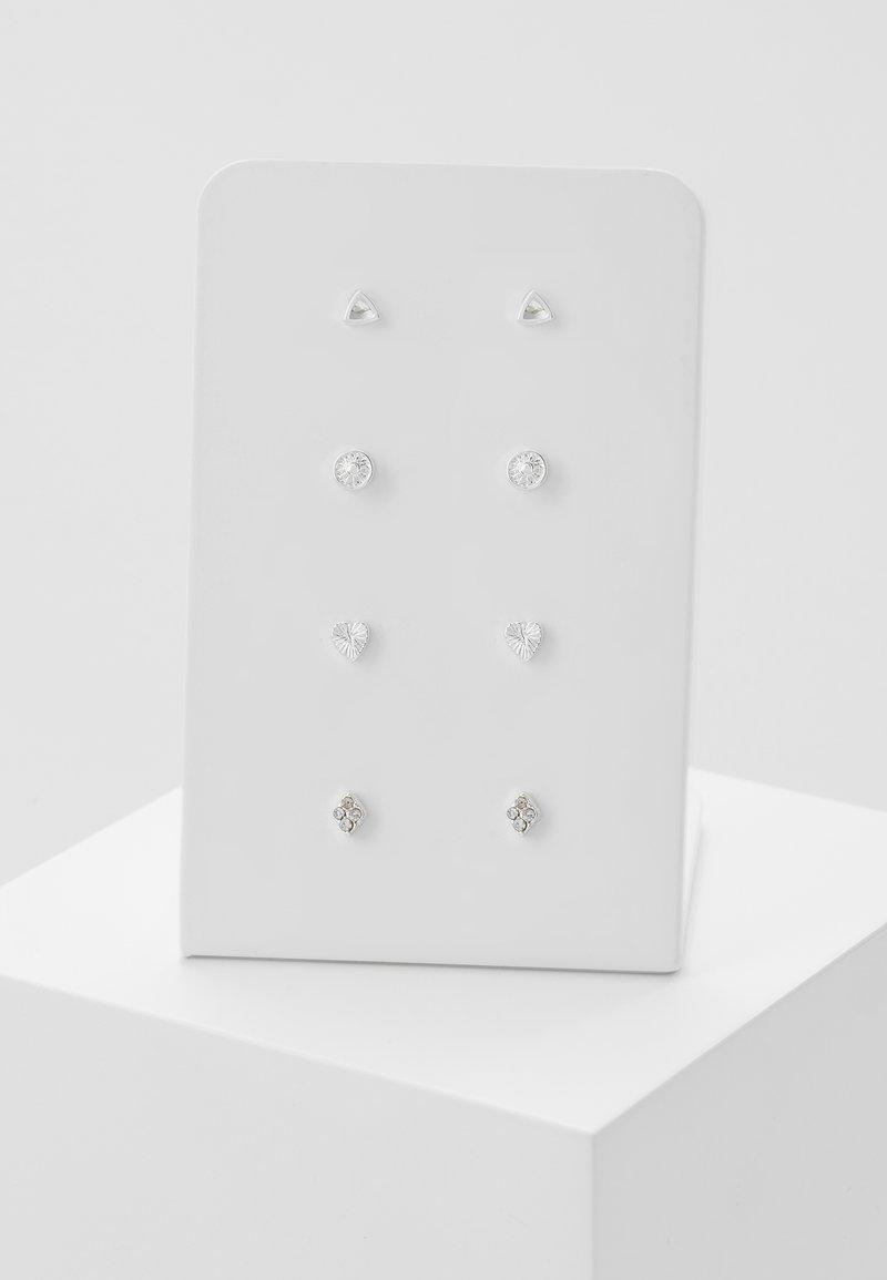 Leslii - 4 PACK - Earrings - silver-coloured