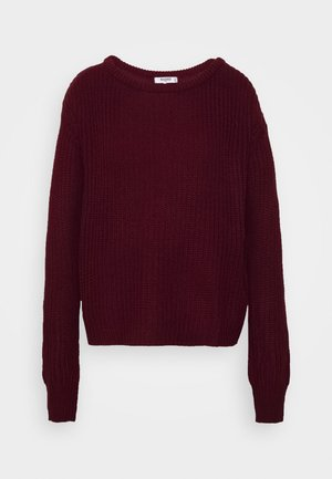 OPHELITA OFF SHOULDER JUMPER - Strikkegenser - burgundy