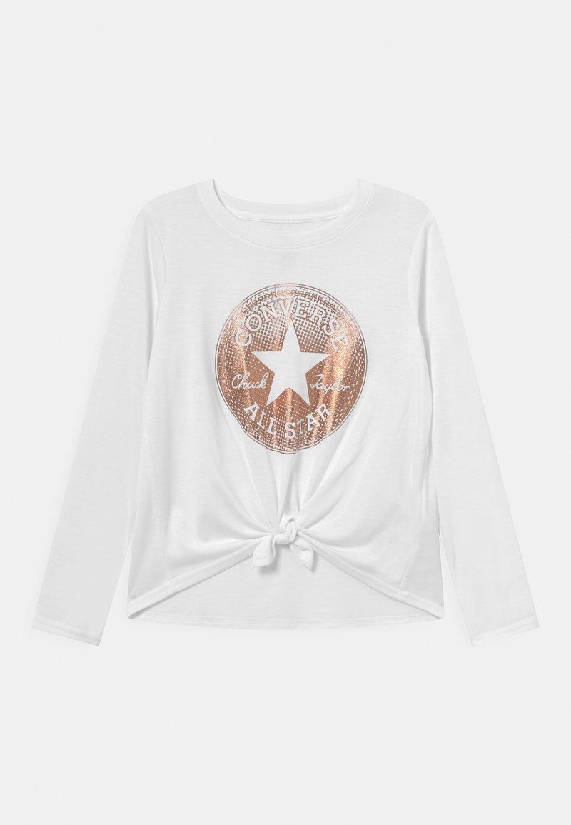 Converse - CLASSIC LENGTH TIE FRONT - Maglietta a manica lunga - white