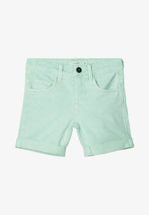Denim shorts - green ash
