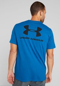Under Armour - SPORTSTYLE BACK TEE - Print T-shirt - teal vibe/black - 2