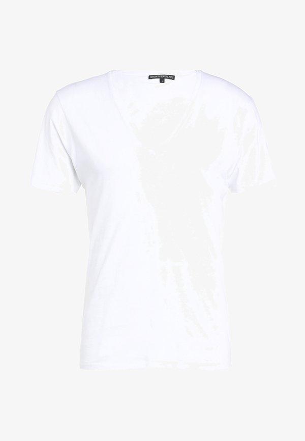DRYKORN QUENTIN - T-shirt basic - white/biały Odzież Męska MHHS