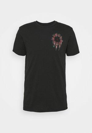 CEREMONY BRACE CREW - T-shirt med print - jet black