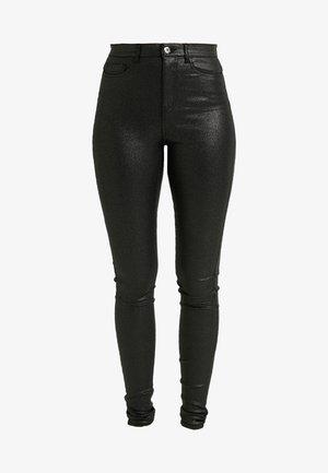 NMCALLIE GLITZY - Trousers - black