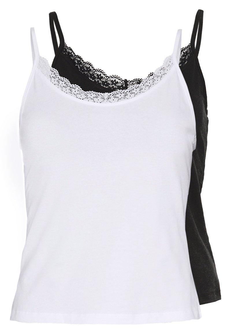 Even&Odd Petite - 2 PACK - Topper - white/black