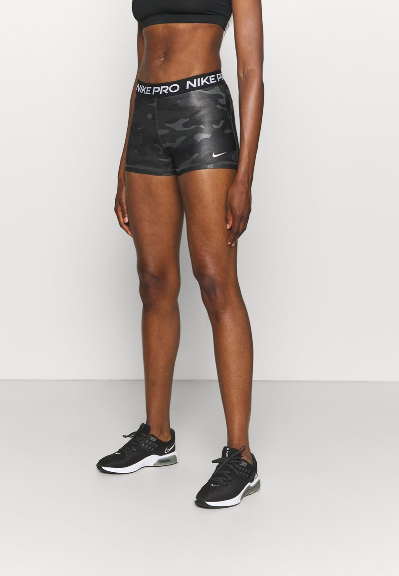 Nike Performance - CAMO - Legginsy - dark smoke grey/white