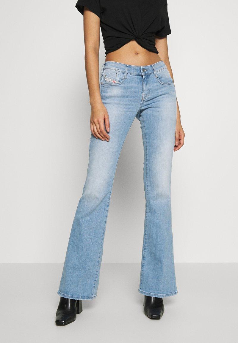 Diesel - D-EBBEY - Flared Jeans - blue denim
