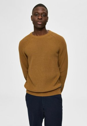 SLHIRVING CREW NECK - Jumper - breen
