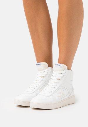 HARLOW BASKET LISCIO - Sneakersy wysokie - bianco
