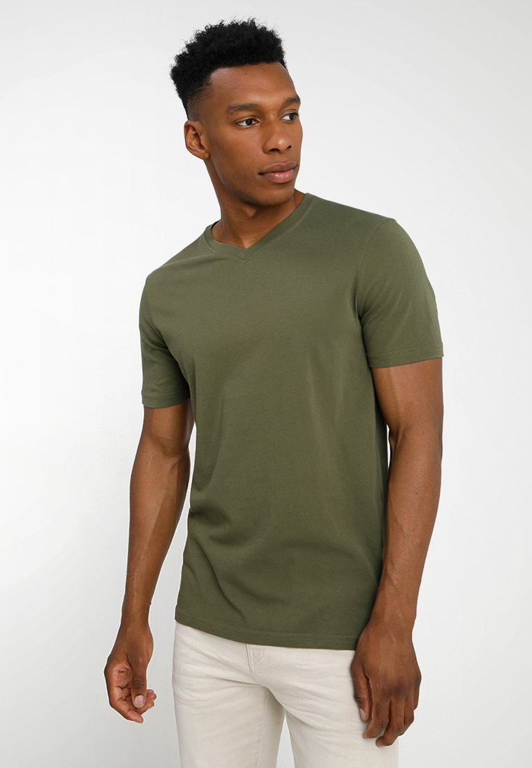 Benetton - Basic T-shirt - khaki