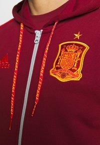 adidas Performance - FEF SPANIEN FZ HD - Zip-up hoodie - bordeaux - 5