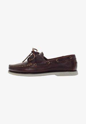Boat shoes - brunello white