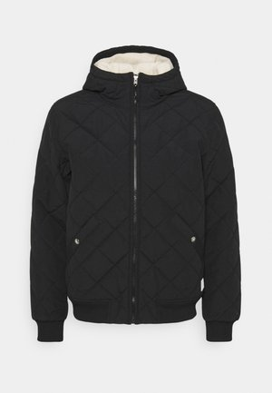 CUCHILLO HOODIE AVIATOR - Winter jacket - black/bleached sand