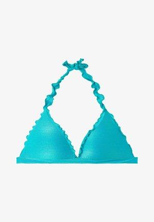 TRIANGEL-BIKINIOBERTEIL MIT ABGESTUFTER WATTIERUNG FORMENTERA - Bikini pezzo sopra - paradise blue shine