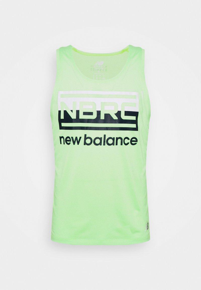 New Balance - RUNNING SINGLET - Sports shirt - neon grün
