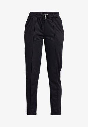TRACK PANTS - Spodnie treningowe - black/bright white
