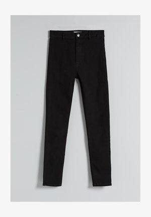 SUPER HIGH WAIST - Slim fit -farkut - black