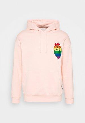 RAINBOW HEART HOODIE PRIDE UNISEX - Hoodie - pink