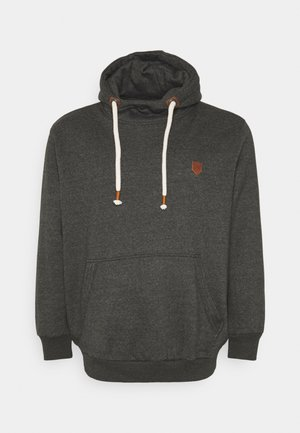 JPRBLUTOM HIGH NECK HOOD - Hoodie - dark grey melange