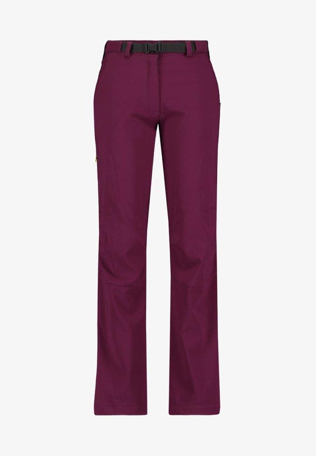 Outdoor trousers - bordeaux