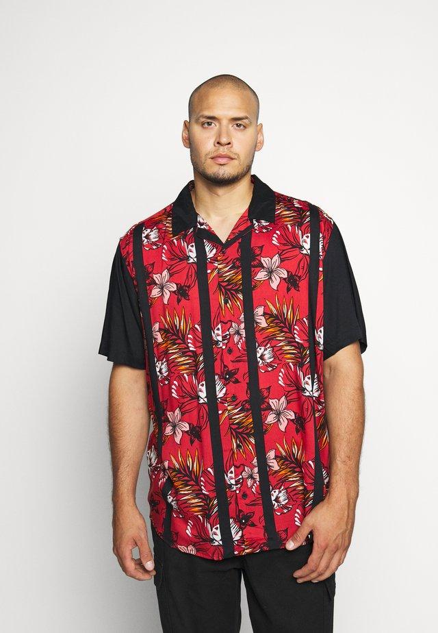 ONSCHARLES COLORBLOCK - Shirt - cranberry
