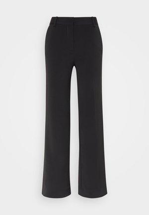 STRAIGHT LEG TROUSER - Trousers - black