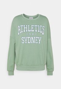 Even&Odd - Printed Crew Neck Sweatshirt - Sweatshirt - green - 4