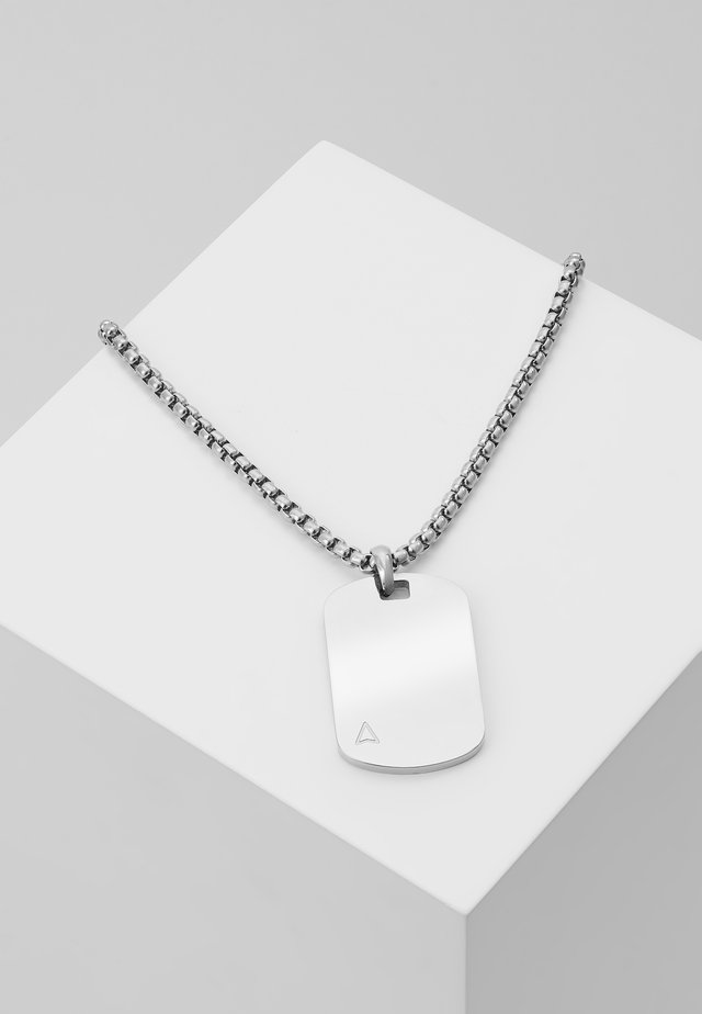 ID TAG NECKLACE - Naszyjnik - silver-coloured