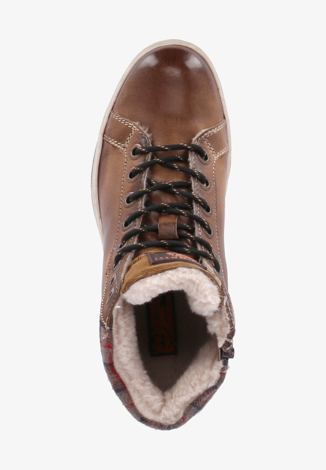 REVEL - Winter boots - cognac
