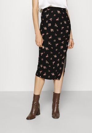 FALDA MIDI - Pencil skirt - black