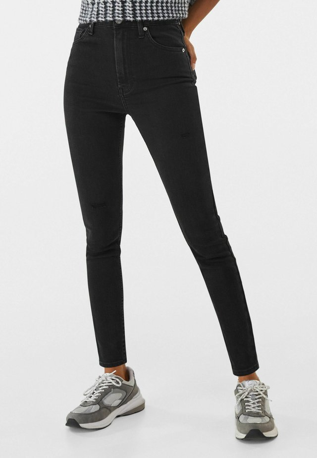 SUPER HIGH WAIST - Jean slim - black