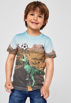 MIT DINO-FOTOPRINT - Print T-shirt - blue placed print