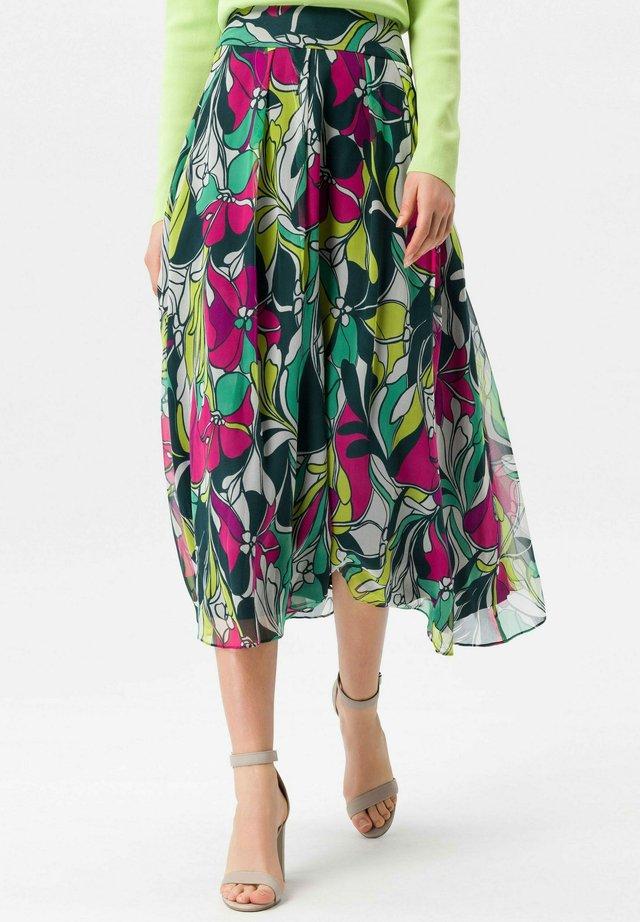 A-line skirt - grün/multicolor