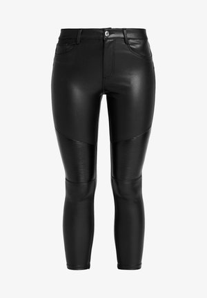 ONLLOMO BIKER PANTS - Trousers - black