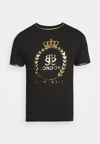 KING - T-shirt med print - jet black/gold foil/white