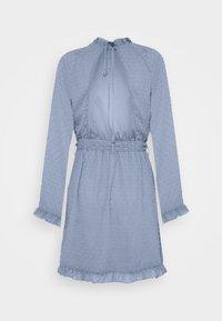 Missguided - TIE WAIST OPEN BACK DOBBY DRESS - Korte jurk - baby blue - 1