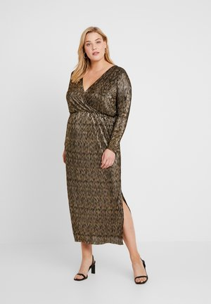 CARKAISA DRESS - Maxikjole - black/gold glitter