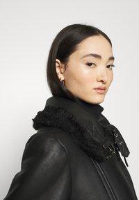 Diesel - EYRE - Leather jacket - black - 4