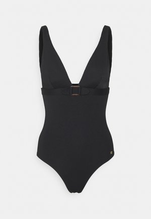 SOPHISTICATED ONE PIECE PLUNGE - Swimsuit - black