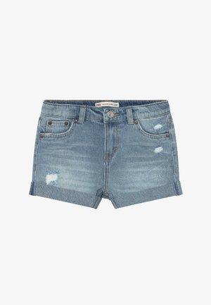 GIRLFRIEND SHORTY SHORT - Denim shorts - light-blue denim