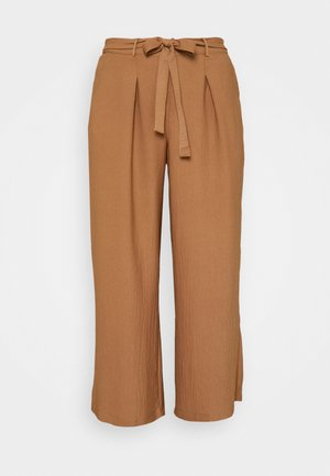 TIE TROUSERS - Trousers - camel