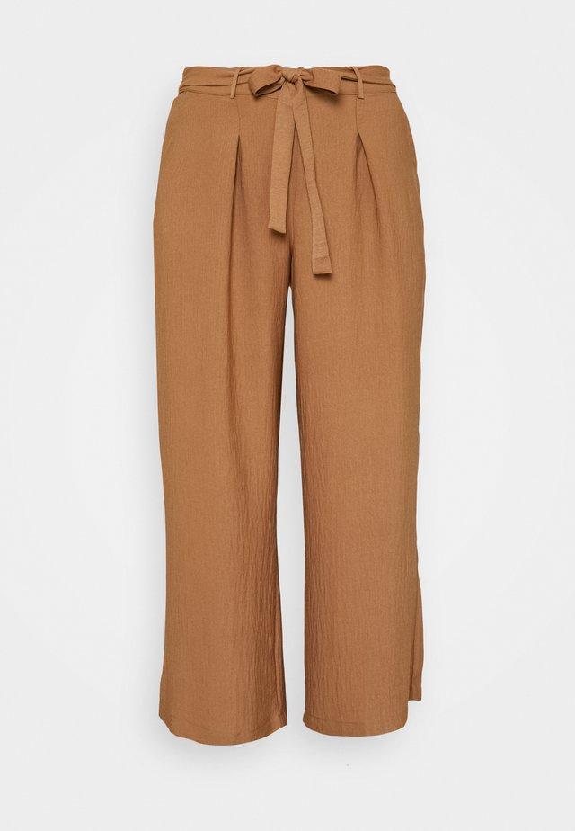 TIE TROUSERS - Pantalon classique - camel