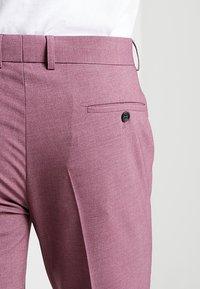 Lindbergh - PLAIN MENS SUIT - Kostuum - dusty pink melange - 11