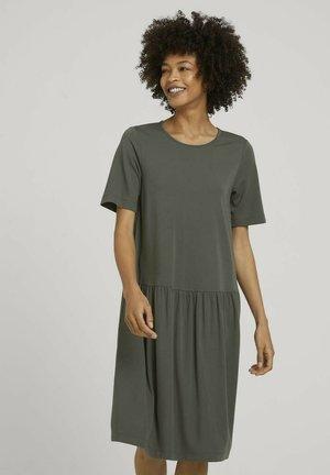 Jersey dress - deep leaf green